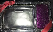 Victoria Secret Wristlet + Hard Case IPhone 6 Glittery Pink New