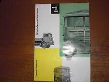 Prospekt Sales Brochure Büssing Lastkraftwagen Trambus Camion LKW  автомобиль