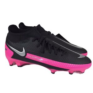 Nike Phantom GT Academy DF FG MG Soccer Cleats Black Pink CW6667-006 Men Size 5