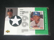 Pedro Martinez Dodgers Legend Certified Authentic Baseball Game Used Jersey Card