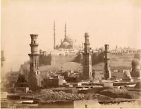 Zangaki, Egypte, Le Caire, Tombeaux des Mamelouks Vintage albumen print,