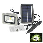 Solar Powered 10W LED Mount Flood Light Home Garden Yard Lawn Outdoor Spot Lamp