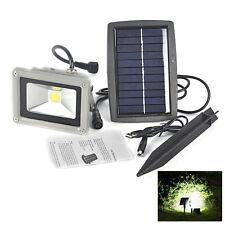 Solar Powered 10W LED Mount Flood Light Home Garden Yard Lawn Outdoor Spot Lamp