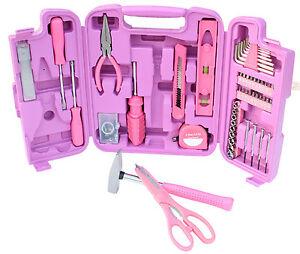96 Teiliges Werkzeugset Werkzeugkasten Werkzeugkoffer Werkzeugkiste in Pink