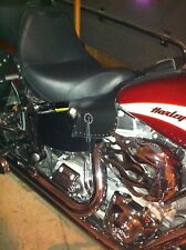 Harley Softail Saddle and Thigh Heat Shield Deflectors STUDS & CONCHO