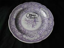 EXTREMELY RARE ONE OFF PROTOTYPE SPODE PLATE PLAQUE FLORAL FLOWER PURPLE MAX CLR
