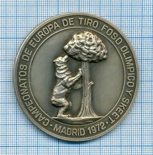Olympic Skeet Shooting Europe Championship Participants Medal Madrid 1972 Spain