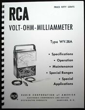 Rca Voltohmyst Wv 38a Vom Multimeter Manual