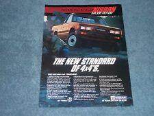 "1985 Nissan 4x4 Standard Pickup Truck Vintage Ad ""The New Standard of 4x4's"""