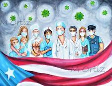 """Quarentine, Puerto Rico Convergencia Original 18"""" x 24"""""""
