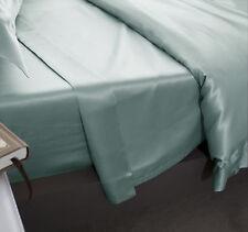 Jasmine Silk Pure Silk Flat Sheet (Duck Egg) - DOUBLE