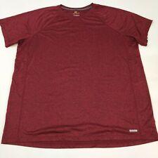 Tek Gear Performance Shirt Men's 3Xlt Xxxlt Short Sleeve Red Black Heather Poly