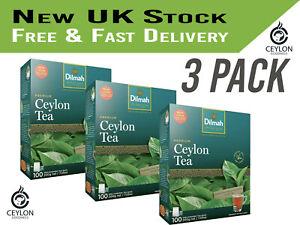 Dilmah Premium Single Origin Pure Ceylon Tea 100 Tea Bags 200g x 3 PACK UK Stock
