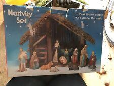 12 PIECE PORCELAIN NATIVITY SET BOXED VGC CHRISTMAS