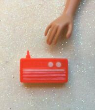 Rare Vintage 1960's Barbie/Clone Red & White Transistor Radio Made in Hong Kong