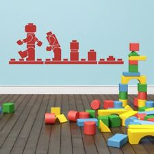 Brick Evolution Wall Decal Block Construction Toy Removable Vinyl Boy Room Decor