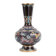 China 20. Jh. Schmetterling -A Chinese Cloisonne Enamel Vase Chinois Vaso Cinese