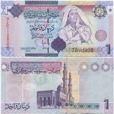 Libya 1 Dinar 2009 UNC P-71, 7th Series, Gaddafi