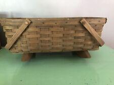 Longaberger 1984 Doll Cradle Large Gathering Basket Darker Vintage Nice N72