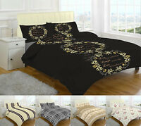 Printed Flannelette Sheet Set Fitted and Flat Pillowcase Single Double King size