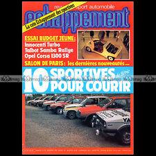ECHAPPEMENT N°193 R12 GORDINI SAMBA RALLYE GOLF & 205 GTI R5 ALPINE TURBO 1984