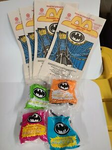 McDonalds Happy Meal Toys 1991 Batman Returns Complete Set Of 4 And Bags SEALED!