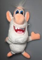 "Happy White Stuffed Monster Animal Plush Smiling 10"" Blue Eyes Peach Soft Toy"