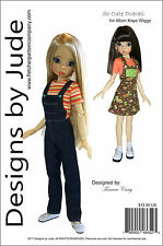 So Cute Overall & Skirtall Doll Clothes Sewing Pattern46cm Kaye Wiggs MSD Dolls