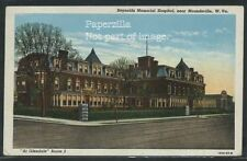 WV Moundsville LINEN 1950 REYNOLDS MEMORIAL HOSPITAL at Glendale Rte 2 by Teich