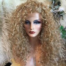 """32"""" LONG Brownish, Reddish & Blonde Mix, Lace Front ANGELIC Spiral Curl Wig💝"""