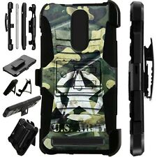 Luxguard For MicroMax T55 Phone Case Holster Stand Cover  US ARMY METAL SHELL