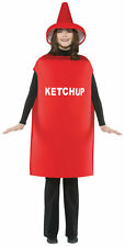 Ketchup Bottle Food Comical Adult Costume Printed Tunic Halloween Rasta Imposta