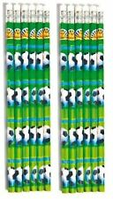 12 Football Party Bag Pencils with Eraser Boys Party Bag Fillers Fun Stationery