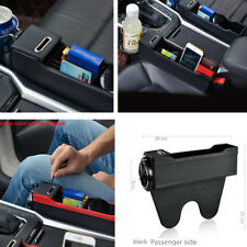 Console Side Pocket with Coin&Cup Stand, Car Seat Organizer Slit Gap Organizer
