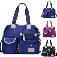 Women's Shoulder Messenger Hobo Bag Casual Cross-body Nylon Tote Purse Handbag