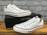 CONVERSE ALL STAR LOW WHITE CANVAS TRAINERS VARIOUS SIZES CASUAL MENS, LADIES