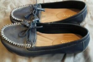 HOTTER COMFORT CONCEPT-PAIR NAVY LEATHER MOCCASINS (HONITON ) SIZE 7 LADIES