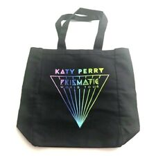 Katy Perry Prismatic World Tour Tote Shoulder Canvas Shopping Bag Black