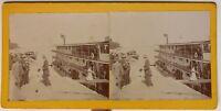 Egitto Asyut Il Bateau Il Tebe Mr Val Roger Foto Stereo Vintage 1913