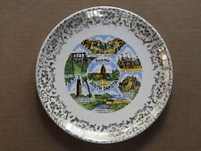 """State Of South Dakota 9"""" Porcelain Collector'S Plate With Wall Mount"""
