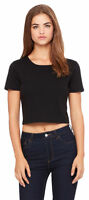 Bella + Canvas Women's Poly-Cotton Crew Neck Crop Slim Fit T Shirt. 6681
