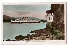 RPPC The C.P.S.S,Princess Marguerite in the entrance to Vancouver B.C. Steamer #