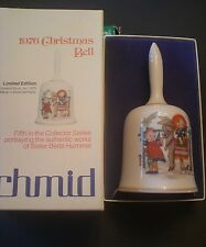 "Schmid 1976 Sister Berta Hummel 6"" Porcelain Christmas Bell West Germany Mib"