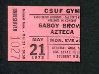 Original 1973 Savoy Brown Concert Ticket Stub Cal State Fullerton CA