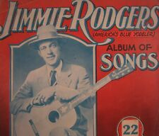 Vintage Jimmie Rodgers Sheet Music Country Pioneer Blue Yodeler Song Book 1934
