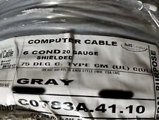 Carol C0783A 20/6C Shielded Tinned Copper Computer/Communication Cable /50ft