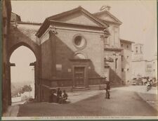 PERUGIA.Chiese Madonna d. Luce e San Luca . Fine 1800