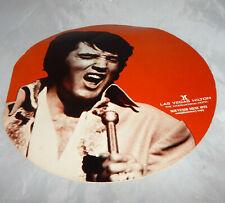 Elvis Presely 1972 Live Concert Las Vegas Hilton Menu Orange/Red version Round