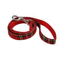 Ancol Tartan Nylon Adjustable Dog Collar or Lead Blue / Red Small Medium Large