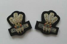 BRITISH ARMY COLLAR BADGES. THE ROYAL REGIMENT OF WALES COLLAR BADGES ( PAIR ).